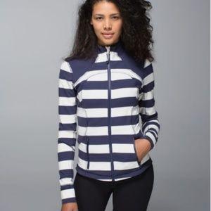 Lululemon Forme Jacket Cuffins Steep Stripe sz 6